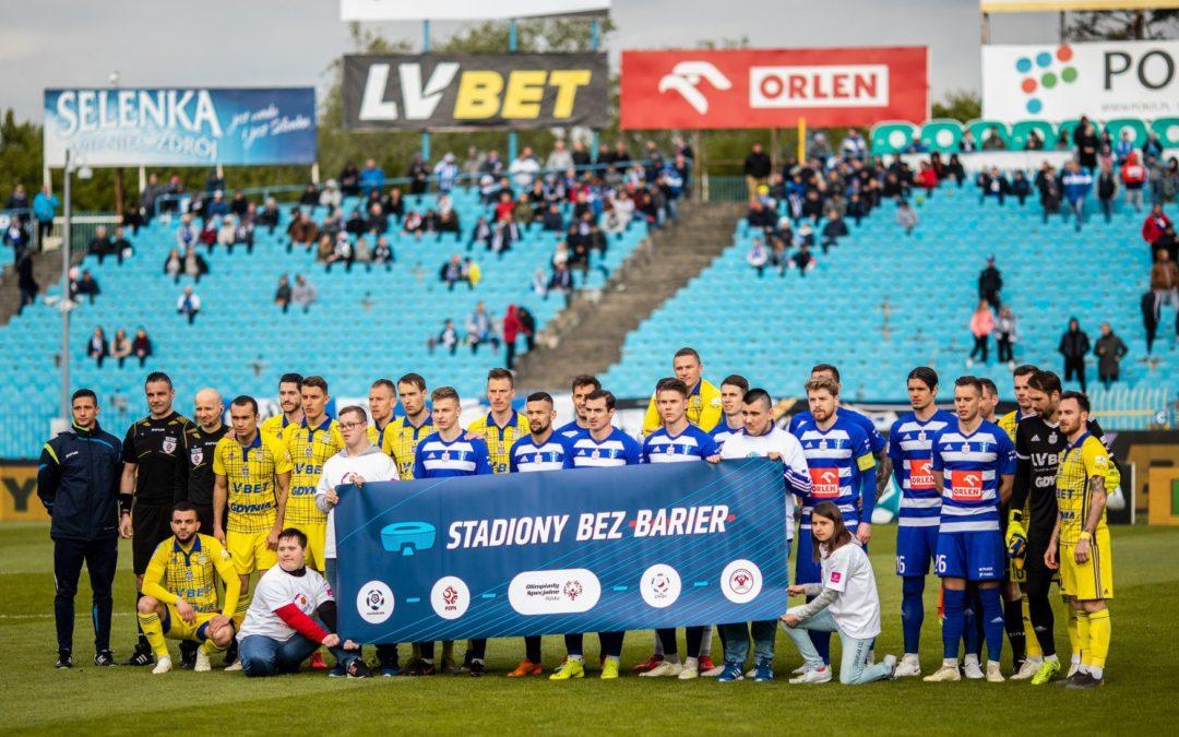 """Akcja """"Stadiony bez barier"""" zagościła na meczach Lotto Ekstraklasy!"""